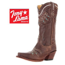 Tony Lama Cowboy Boots Leather Over-the-Knee Boots