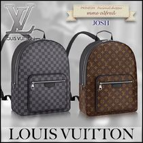 Louis Vuitton DAMIER GRAPHITE Other Check Patterns Monogram Canvas A4 Backpacks