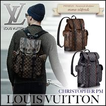 Louis Vuitton DAMIER GRAPHITE Monogram Canvas A4 Backpacks