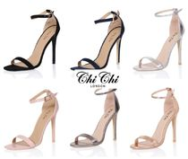Chi Chi London Open Toe Plain Pin Heels Heeled Sandals