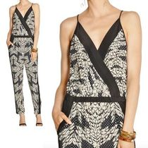 DIANE von FURSTENBERG Silk V-Neck Long Party Style Jumpsuits & Rompers