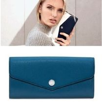 Michael Kors GREENWICH Saffiano Bi-color Plain Long Wallets
