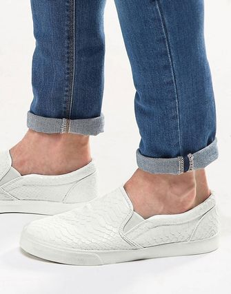 ASOS men's Slip-on sneakers snake white