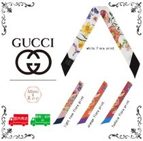 GUCCI Flower Patterns Silk Party Style