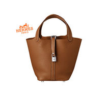 HERMES Picotin Leather Totes