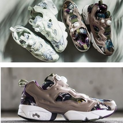 Reebok PUMP FURY Flower Patterns Tropical Patterns Low-Top Sneakers
