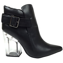 Jeffrey Campbell Casual Style Street Style Plain Leather Block Heels