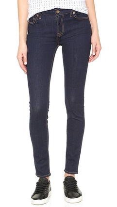 Street Style Plain Cotton Skinny Jeans