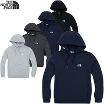 THE NORTH FACE Unisex Long Sleeves Plain Cotton Hoodies
