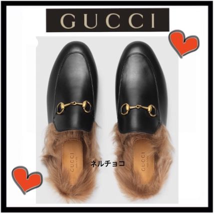 GUCCI Casual Style Blended Fabrics Plain Leather