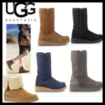 UGG Australia AMIE Casual Style Fur Plain Wedge Boots