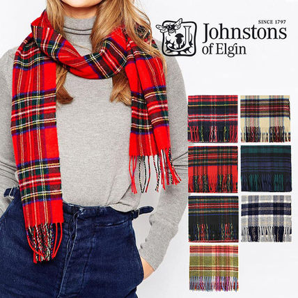 Johnstons Tartan Casual Style Cashmere Heavy Scarves & Shawls