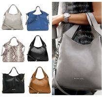 Michael Kors 2WAY Chain Plain Leather Elegant Style Totes
