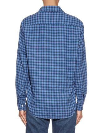 Other Plaid Patterns Long Sleeves Cotton Shirts & Blouses