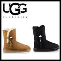 UGG Australia BAILEY BUTTON Casual Style Fur Plain Flat Boots