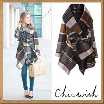 Chicwish Other Check Patterns Medium Coats
