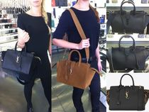 Saint Laurent DOWNTOWN A4 2WAY Leather Elegant Style Totes