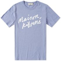 MAISON KITSUNE Crew Neck Plain Cotton Short Sleeves Crew Neck T-Shirts