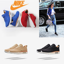 Nike AIR MAX 1 Casual Style Suede Plain Low-Top Sneakers