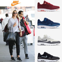 Nike AIR MAX 1 Casual Style Plain Low-Top Sneakers