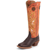 Tony Lama Cowboy Boots Square Toe Casual Style Leather Mid Heel Boots