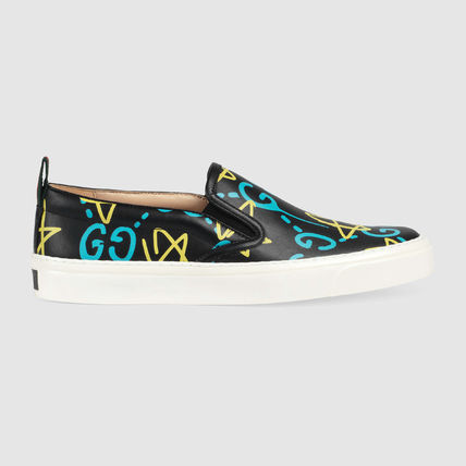 GUCCI Gucci Ghost Collaboration Leather Low-Top Sneakers