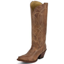 Tony Lama Cowboy Boots Casual Style Leather Mid Heel Boots