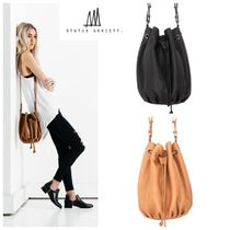 STATUS ANXIETY Casual Style Street Style 2WAY Plain Leather Purses