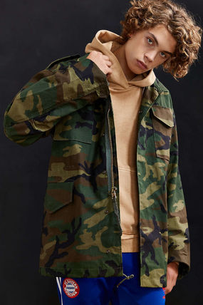 ALPHA INDUSTRIES Short Camouflage Street Style Parkas