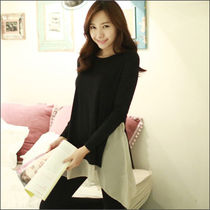 Bi-color Long Sleeves Medium Long Sleeve T-shirt T-Shirts