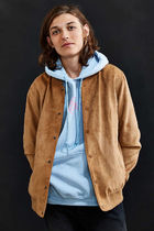 Native Youth Short Suede Street Style Plain MA-1 Bomber Jackets