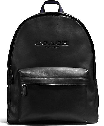 CHARLES BACKPACK IN SPORT CALF LEATHER F54786 black