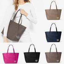 Michael Kors Casual Style A4 Plain Leather Totes