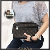 Louis Vuitton MONOGRAM MACASSAR Monogram Unisex 2WAY Clutches