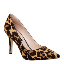 Nine West Leopard Patterns Pin Heels Pointed Toe Pumps & Mules