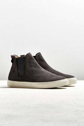 Suede Street Style Plain Chelsea Boots Sneakers