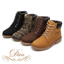 Camouflage Suede Engineer Boots