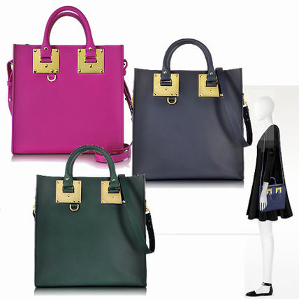 SOPHIE HULME Plain Leather Totes
