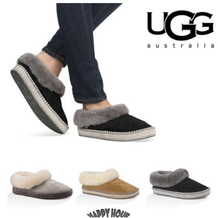 5f783adda65e UGG Australia WRIN Casual Style Sheepskin Slip-On Shoes by HappyHour - BUYMA