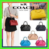 Coach NOLITA Casual Style 2WAY Plain Leather Shoulder Bags
