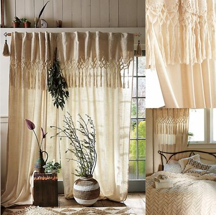 Antholo Maclame curtain 160 cm length 1 piece or 2 piece set