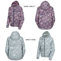 THE NORTH FACE Flower Patterns Leopard Patterns Casual Style Wool