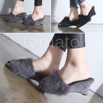 Open Toe 5-7cm Peep Toe Pumps & Mules