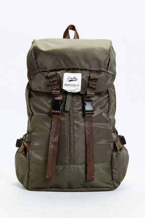 Camouflage Street Style A4 Plain Backpacks