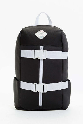 Canvas Street Style A4 Plain Backpacks