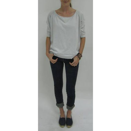 Short Boat Neck Cropped Plain Cotton Cropped