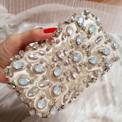 With Jewels Elegant Style Clutches