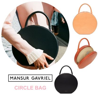 MANSUR GAVRIEL Plain Leather Elegant Style Handbags