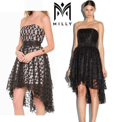 Milly Dresses Sleeveless Flared Party Style Lace
