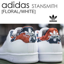 adidas STAN SMITH Flower Patterns Street Style Low-Top Sneakers